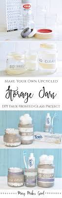Glass Bathroom Storage Jars Make Your Own Upcycled Bathroom Storage Jars Makes