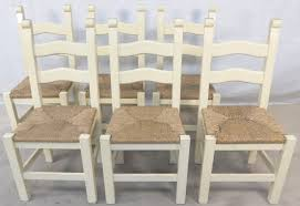 kitchen dining chairs kitchen dining chairs set of six painted wood ladderback rush seat