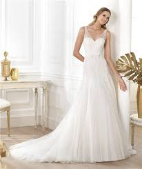 wedding dress sheer straps a line v neck sheer straps beaded sequins tulle wedding dress with