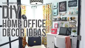 Diy Office Decorating Ideas Craft Room Home Office Tour 3 Easy Diy Office Decor Ideas