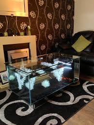 Aquarium Coffee Table Furniture Square Aquarium Coffee Table With Glass Top