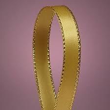 gold satin ribbon antique gold satin ribbon with gold edges 3 8 x 50yd