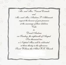 Wording For Catholic Wedding Invitations Wedding Invitation Wording Wedding Invitation Wording Sacrament