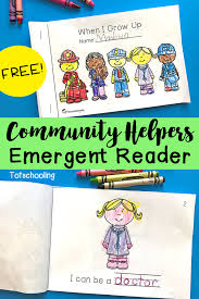 community helpers emergent reader community helpers emergent
