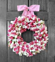 spring door wreaths how to make pretty tulip door wreaths