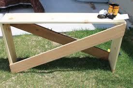 Diy Sofa Table Remodelaholic Stylish And Simple Diy Sofa Table