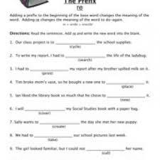 prefix worksheets have fun teaching