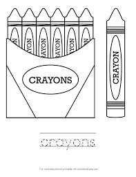 crayon box frame coloring page crayola crayon coloring pages