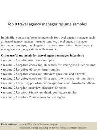 Travel Nurse Resume Sample Resume Travel Agency Manager Virtren Com