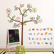 Wall Decals Amazon by Amazon Com Decowall Da 1503 Animal Alphabet And Numbers Tree
