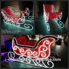 large outdoor christmas lights christmas sleigh light reindeer