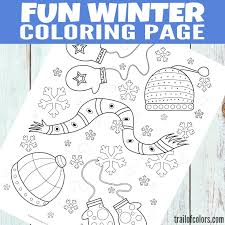 free printable winter coloring page for kids trail of colors