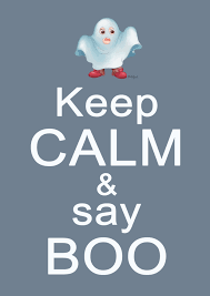 happy halloween stay calm and say boo hattifant