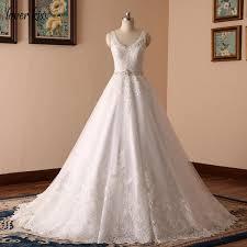 design wedding dress lover vestido de noiva new design a line lace wedding dress v