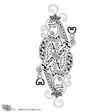 tattoo of queen of hearts femininity tattoo custom tattoo