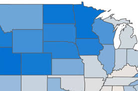 happiest states this map shows the happiest states in the country