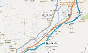 sukkur map multan sukkur motorway cpec eastern route nawaz sharif lay
