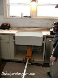 ikea farmhouse sink installation farmhouse sink installation with ikea cabinet tutorial kitchen
