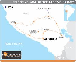 Machu Picchu Map Machu Picchu Drive Self Drive 4x4 Tour By Perumotors 12 Days