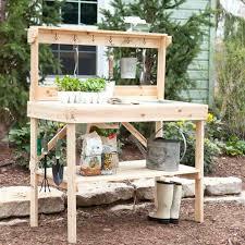 cedar potting bench cedar potting bench with sink cedar potting