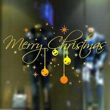 Light Words Christmas Santa Claus Snowflake Light Words Wall Sticker Home