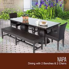 Rectangle Patio Dining Table Napa Rectangular Outdoor Patio Dining Table With 2 Chairs And 2