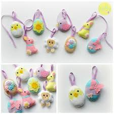 Sewing Patterns Home Decor Make Your Own Felt Easter Collection Kit Easter Decorations