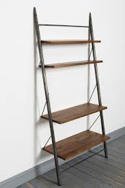 furniture chic tier ladder leaning bookcase shelf for home