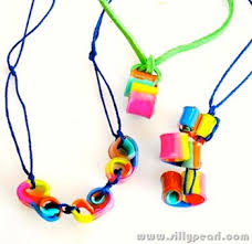 making necklace with beads images Shrink plastic curly bead necklaces things to make and do