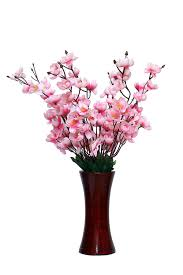 artificial flowers buy a2z pink orchids artificial flowers with wooden vase
