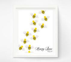 Bumble Bee Nursery Decor Nursery Baby Bumble Bee Personalized Gift For New