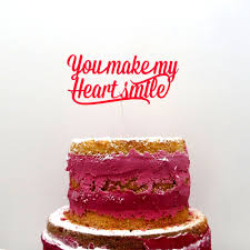cake toppper you make my heart smile 24 50 u20ac nogallery 3d w