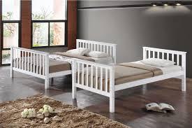 Oscar White Wooden Triple Sleeper Kids Bunk Bed Single  Double - Triple bunk bed wooden