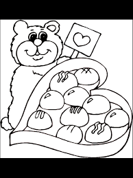 valentine u0027s day coloring page teddy bear and chocolates
