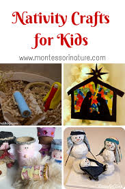 nativity crafts for kids montessori nature