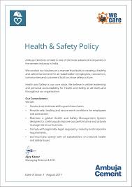 health and safety ambuja cement