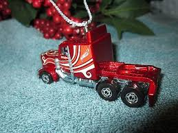 semi truck ornaments custom truck tractor htf what s