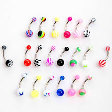 ball belly rings images Ball tongue rings 20pcs colorful stainless steel ball barbell jpg