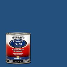 rust oleum automotive 1 qt auto body deep blue paint case of 2
