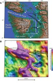 Washington State Topographic Map by Saddle Mountain Fault Deformation Zone Olympic Peninsula