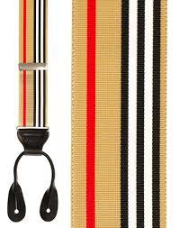 American Flag Suspenders Burberry