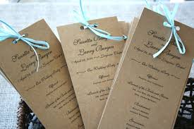 rustic wedding programs rustic recycled wedding programs sofia invitations