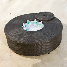 coffee table with cooler source outdoor circa round all weather coffee table with ice cooler