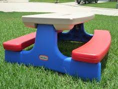 kids outdoor table little tikes picnic table