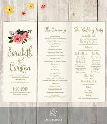 beautiful wedding programs this beautiful wedding program printable pdf is just what you need