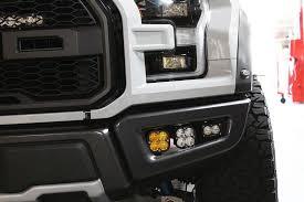 ford raptor fog light kit 2017 baja designs 447564 2017 ford raptor sportsmen fog light bumper