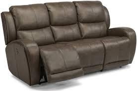 Reclining Sofa Bed Flexsteel Latitudes Chaz Contemporary Power Reclining Sofa With