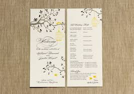 simple wedding program wedding programs carbon materialwitness co
