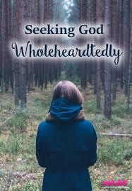 How To Seeking Seeking God Wholeheartedly Anawins