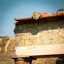 detail of roof ornament picture of ruins of herculaneum